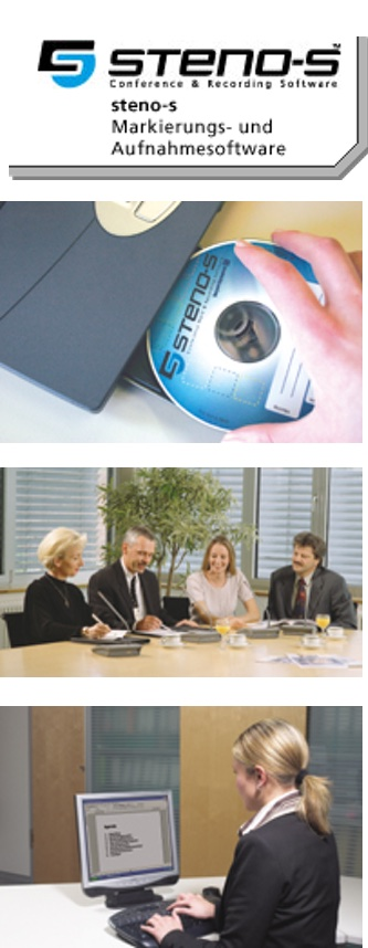 Steno-Aufnahmen, Afunahmesoftware