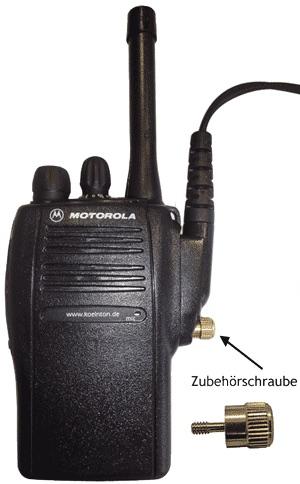 Zubehörschraube, Audiozubehör tauschen ohne Werkzeug